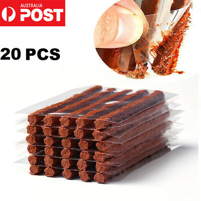 20PC Car Auto Tyre Tubeless Seal Strip Plug Tire Puncture Repair Recovery Kit AU