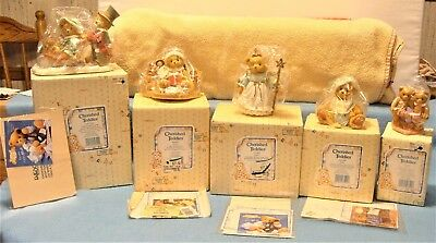 LOT 5 VINTAGE ENESCO CHERISHED TEDDIES MINT IN BOXES with PAPERS