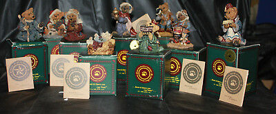 Boyds Bears & Friends Bearstone Collection Nativity Christmas Lot of 9 1993-1998