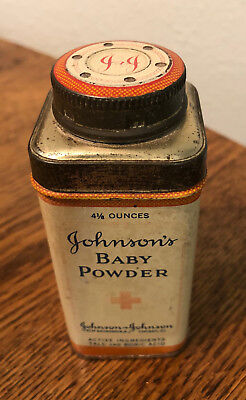 Vtg Johnson's Baby Powder Advertising Shaker Tin 4 1/8 Ounce - FREE SHIPPING!!!!