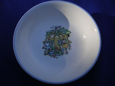 "Vintage Salem China Co. 6"" Child's Pumpkin Theme Bowl Children Salem Ohio"