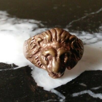 rare ancient viking bronze ring solid beautiful authentic rare type
