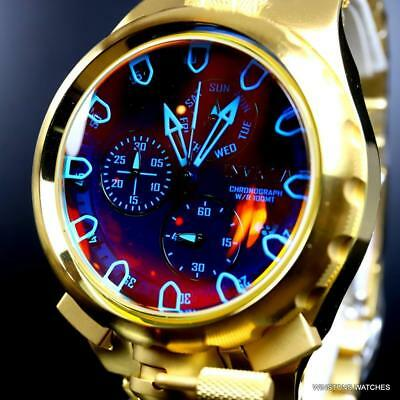 Invicta Coalition Forces Sniper Tinted Crystal 18kt Gold Plated Steel 50mm Watch
