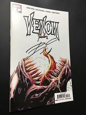 VENOM #3 1st APPEARANCE OF KNULL  SYMBIOTE GOD SIGNED DONNY CATES NM NYCC 2018