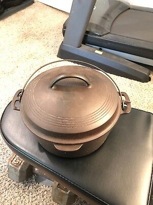 ANTIQUE WAGNER WARE SIDNEY -0- CAST IRON DUTCH OVEN 1267 Mint Very Nice