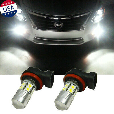 White Super Bright 100W H11 LED Bulbs Front Fog Light for Nissan Cube Frontier