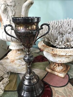 Vintage Silver Plate Loving Cup Trophy Doubles Tennis 1971