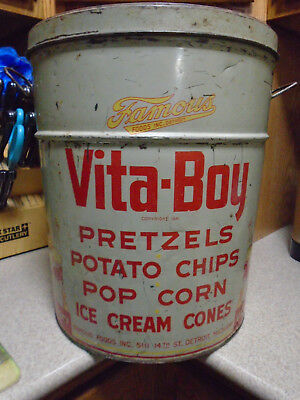 1941 with Vita Boy Elf Snack Tin by Famous Foods Inc. Detroit Michigan