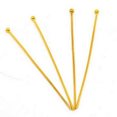 4.5cm Gold Ball Head Pin 21 Gauge QUALITY Headpin Jewelry Finding Copper Quality