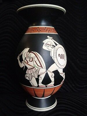 Hand-painted Signed Ancient Greek Pottery Vase Replica