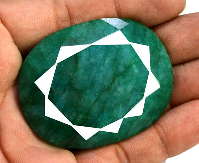 234ct Natural Faceted Round Green Emerald Loose Gemstone for Pendant Jewelry
