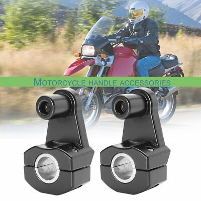 2x Motorcycle HandleBar Handle Fat Bar Mount Clamps Riser Universal 7/8'' 22mP2