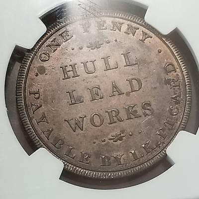 Great Britain 1812 Hull Lead Works Penny MS 63 RB 1110-16