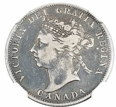 Canada 1888 Silver 25 Cents F 12 NGC 1110-14