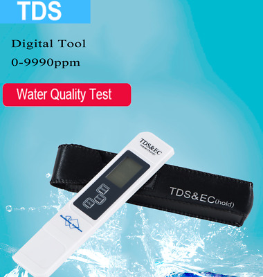 ph/tds meter digital lcd tester water filter purity pen battery include ph paper