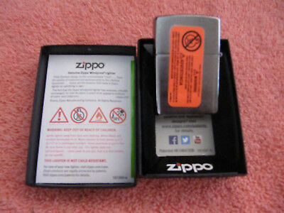 Zippo #200 Brushed Chrome Lighter New In Box 2016 Date