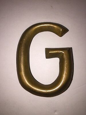Solid Brass Letter G Door Mail Apartment Address Vintage Heavy
