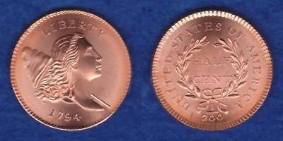 Gallery Mint Museum 1794 Half Cent Lettered Edge  ---  Reue