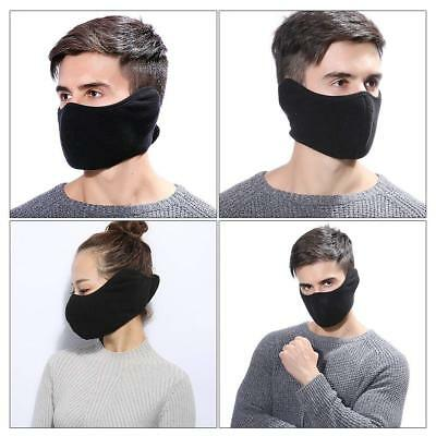 Winter Motorcycle Half Face Mouth Warmer Fleece Mask for Unisex Snowboard Skiing