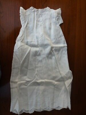 Vintage Off White Cotton Christening Dress Hand Made in the Philippines