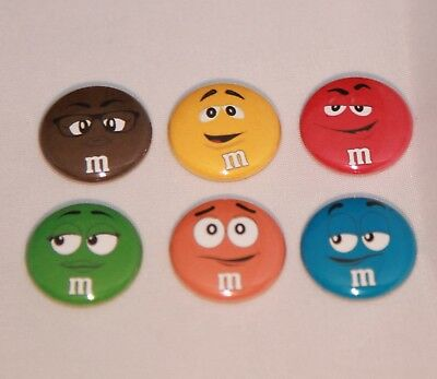 """6 M&M 1"""" Magnets -Makes Great Gifts"""