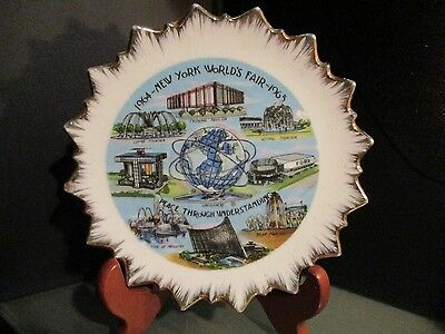 1964 1965 NEW YORK Worlds FAIR collector PLATE US Steel UNISPHERE FORD PEACE EC