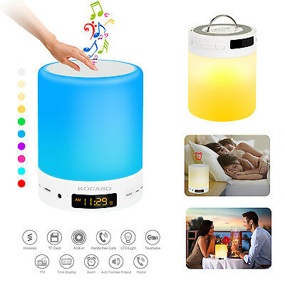 Portable LED Bluetooth Music Speaker Smart Touch Night Light Color Changing