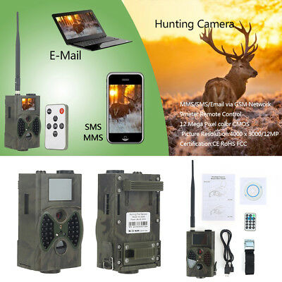 12MP 1080P HC-300M 940NM MMS GPRS Scouting Infrared Traps Trail Hunting Camera *