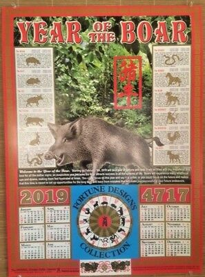 Chinese Year Of The Boar 2019 Astrological Zodiac Calendar Chinatown Hawaii