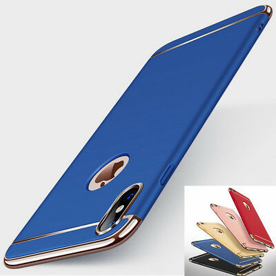 For iPhone XS Max XR Armor Shockproof Hybrid Electroplate Slim Hard Case Cover