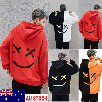 AU Stock Mens Hoodies Sweatshirt Hooded Sweater Coat Jacket Outwear Jumper Tops