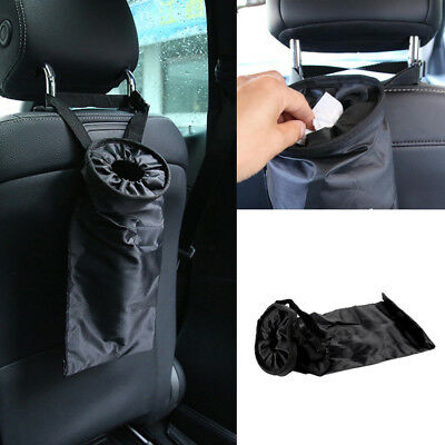 Car Trash Can Garbage Dust Case Back Seat Organize Storage Hanging Bag Pocket BN