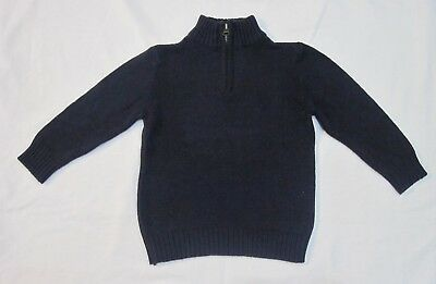 Toddler Boys' Pull Over Sweater Navy 2T The Children's Place 1/4 Zip EUC