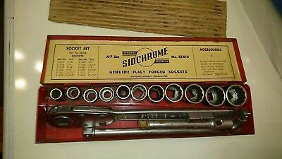 Sidchrome socket set
