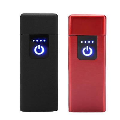 Ultra Slim USB Rechargeable Electric Pulse Cigarette Lighter Windproof Flameless
