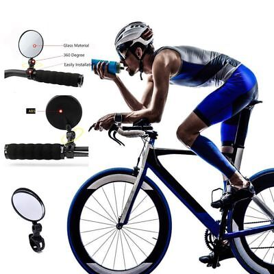 Convex Bike Rear View Mirror Fits 15-22 mm Bar End Left or Right Bicycle Mirro