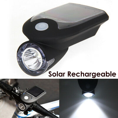 Bicycle Bike Front HeadLight LED Solar USB Rechargeable Cycling Headlight Lamp