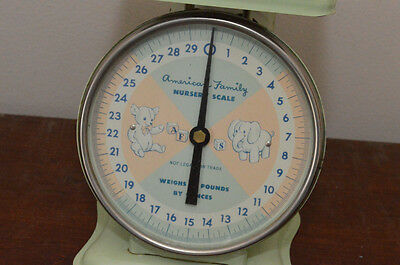 American Family Nursery Scale~Vintage Light Green~Convertable Top~OUTSTANDING