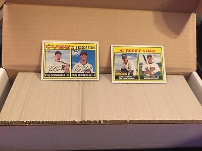 5 set lot 2014 2015 2016 Topps Heritage complete base sets RC stars + high #