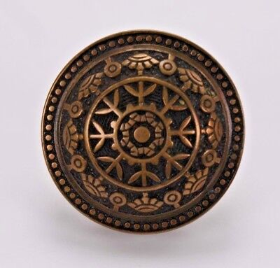 "Aesthetic Cast Brass Door Knob Antique Vtg East Lake Style 2.25""  Round Salvage"