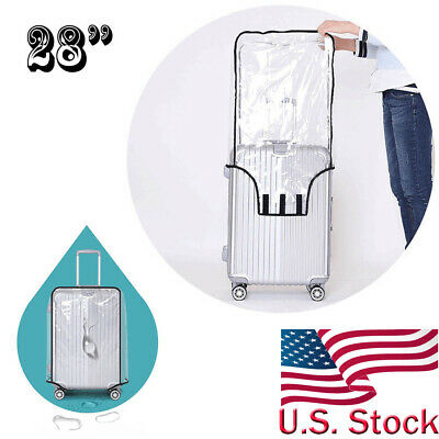 """Waterproof Transparent High Quality Travel Protective Luggage Suitcase Cover 28"""""""