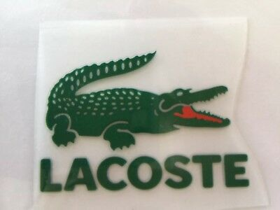 iron on transfer heat Green Crocodile Lacoste logo 5cm X 3.7cm DIY your clothes