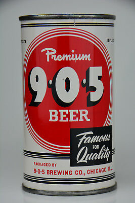 9-0-5 Premium Beer flat-top can, 9-0-5 Brewing Co., Chicago, IL *STUNNING*