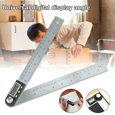 12'' Digital Angle Finder Goniometer Protractor Gauge Ruler With LCD Display