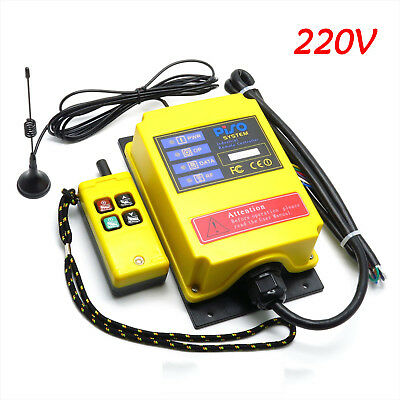 220V Industrial Wireless Remote Controller 500M Electric Hoist Controller F21-2S