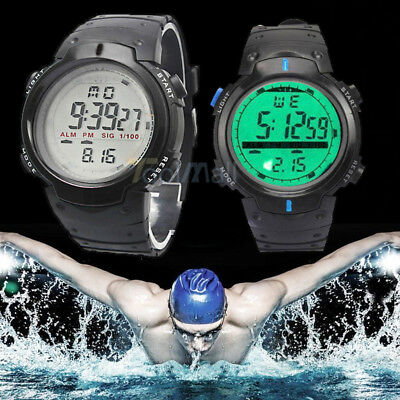 Fashion LED Date Watch Sport Quartz Wrist Men Analog Digital Waterproof Military
