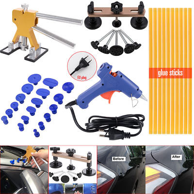 Autos Dent Repair Kit Car Dent Lifter Bridge Puller Tabs EU Plug Glue Gun Sticks
