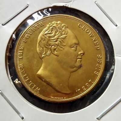 William the fourth crowned 1831, Gold Plated antique Imitation Craft coin