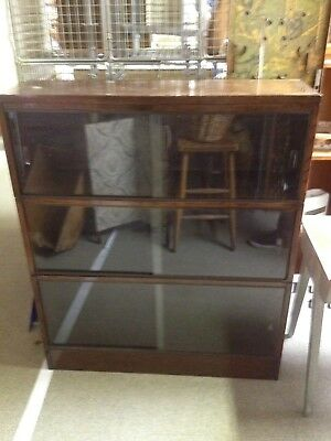 Gunn Nu-clear Vintage Retro Stacking Bookcase Display Sliding Glass Doors