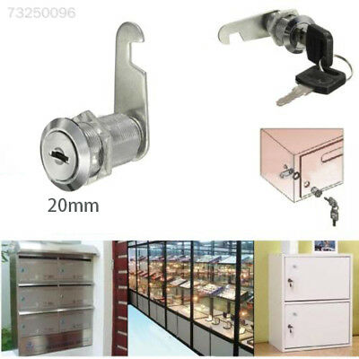 C19B 20mm Locks Cabinet Mailbox Drawer Cupboard Locker 2 Key Home Door Accessori